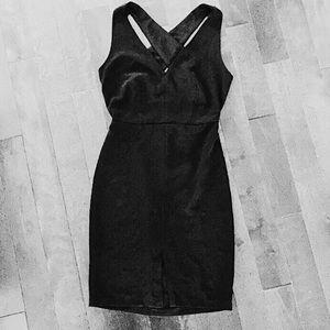 Forever 21 black cross back dress